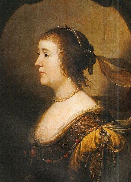 Gerard van Honthorst, portrait of Amalia von Solms