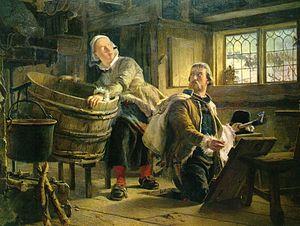 Gustaf Vasa och Tomt-Margit Målning av Johan F...