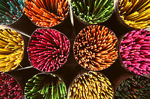 A selection of incense sticks from Bangalore f...