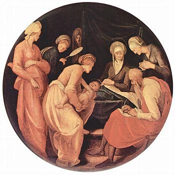 Birth of St. John the Baptist, depicting Zecha...