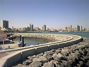 English: View from Kuwait Marina Mall