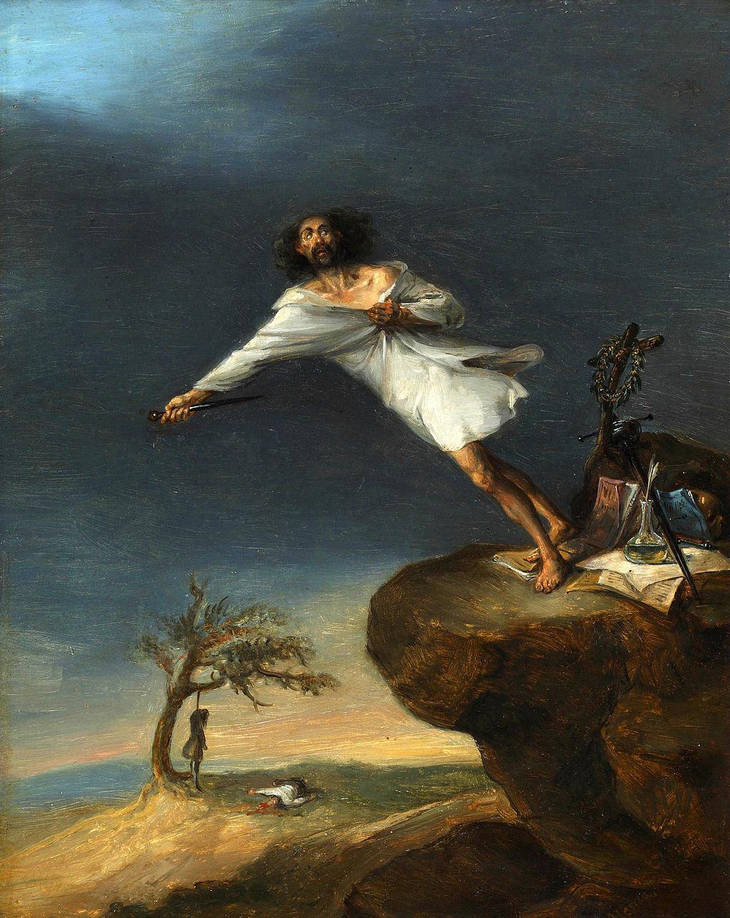 LEONARDO ALENZA - Sátira del suicidio romántico (Museo Romántico, Madrid, c. 1839)