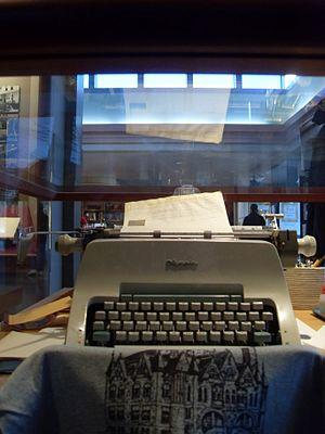 English: Michener's Olympia typewriter, James ...