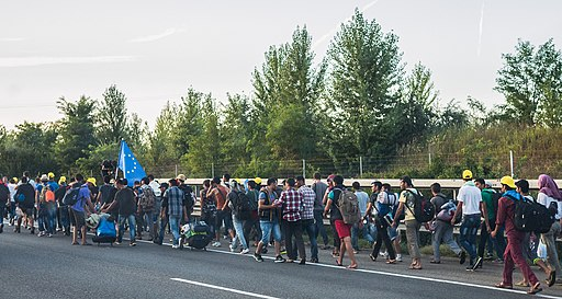 Refugee march Hungary 2015-09-04 02
