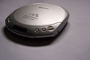 Silver Sony CD Walkman D-E330, taken from an a...