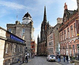 Castlehill forming part of the Royal Mile. In ...