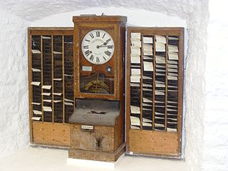 Time clock in the Museum at Wookey Hole Caves (Source: Wikimedia)