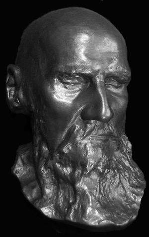 Tolstoy death mask from the author's private c...