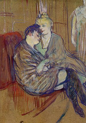 Toulouse-lautrec two girlfriends