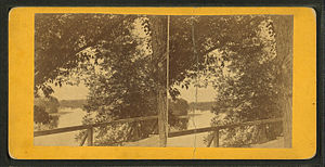 Up river from (Elm Street), Skowhegan, Me, by ...