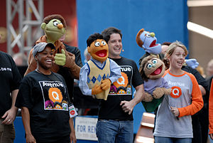 "The cast of Avenue Q performs ""It Sucks t..."