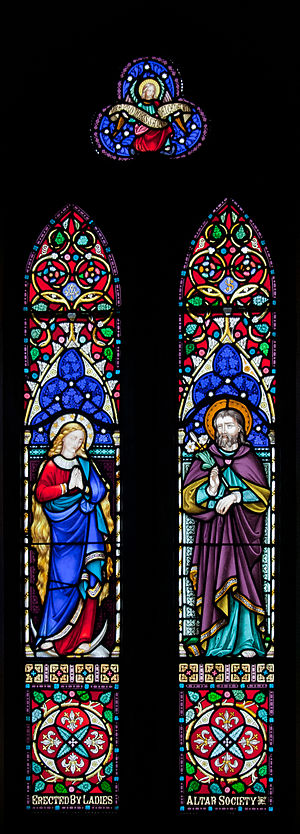 Center window of the apse behind the altar, de...