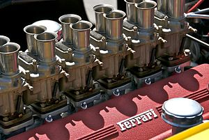 English: Ferrari V12 engine, no other details ...