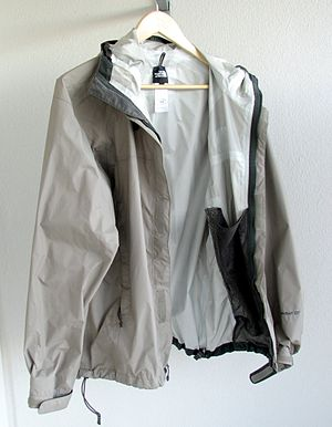 A waterproof breathable (hard shell) jacket