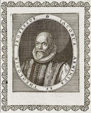 Jacobus Arminius, Kupferstich aus Theatrum Eur...