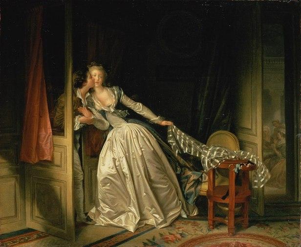 """""""The Stolen Kiss"""" by Jean-Honoré Fragonard"""