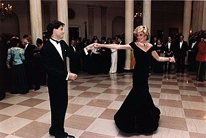 Princess Diana dancing with John Travolta in t...