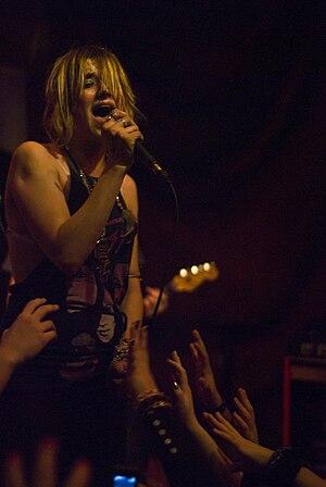 Juliet Simms performing in Philadelphia, PA.