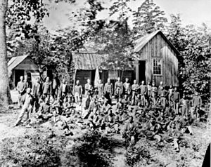 The 21st Michigan Infantry, a company of Sherm...
