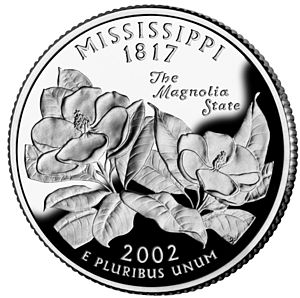 A Mississippi U.S. quarter