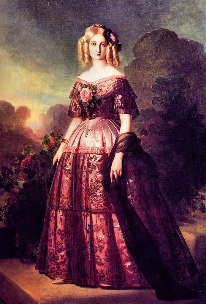 Istorija odevnih predmeta - Page 7 694px-Princess_Maria_Carolina_of_Bourbon-Two_Sicilies_%281822-1869%29%2C_by_Winterhalter