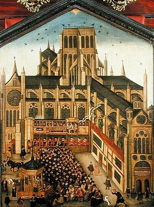 "Painting titled ""Old St Paul's (sermon at..."