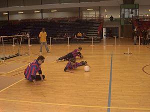 English: M.E.A.N. team at European Torball Cup...