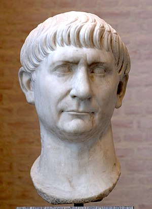 Head of Trajan (reign 98–117 CE), from an over...