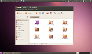 Screenshot of Ubuntu 10.04 (Lucid Lynx) after ...