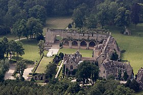 vue sur abbaye des Vaux-de-Cernay rigoles royales