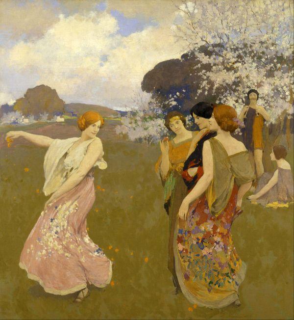 Arthur Mathews Paintings