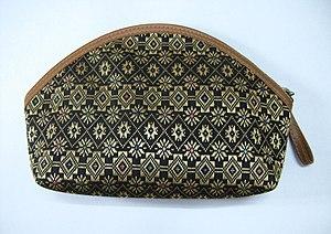 A brocade purse