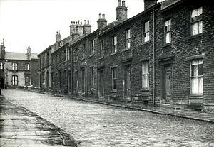 A street in Bury, 1958