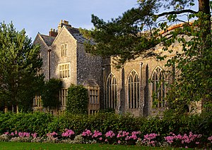 Dartington Hall, Devon, UK in late autumn light.