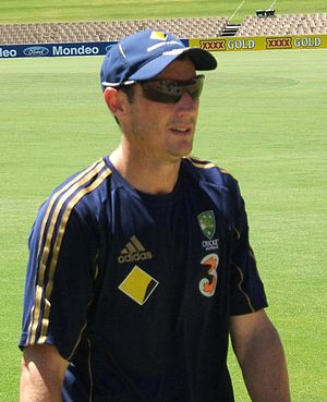 David Hussey at a training session at the Adel...