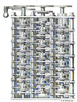 Difference engine plate 1853