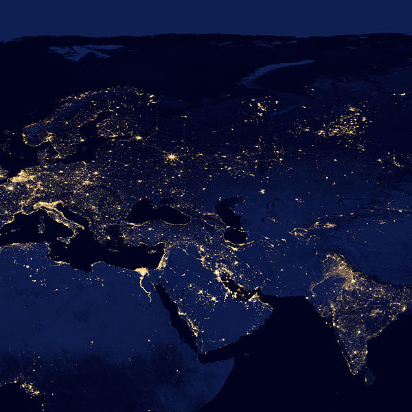 File:Europe, North Africa and Western Asia at night by VIIRS.jpg