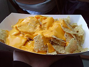 English: Nachos as served on a Circle Line Sig...