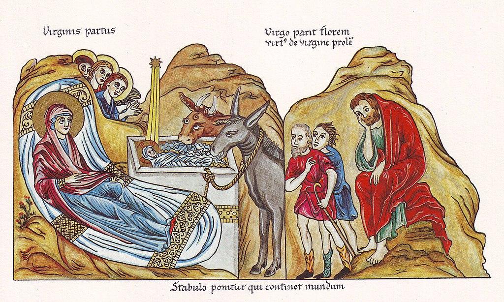 FileHortus Deliciarum Die Geburt ChristiJPG Wikimedia
