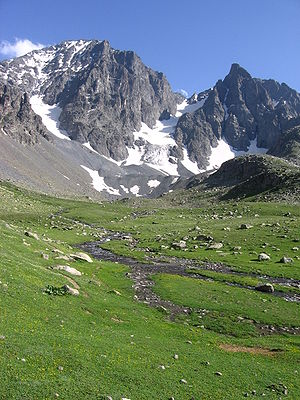 The highest peak Kaçkar Dağı from Mezovit Çayiri