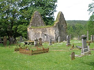 English: Kilmorie Chapel, Strathlachlan. Buria...