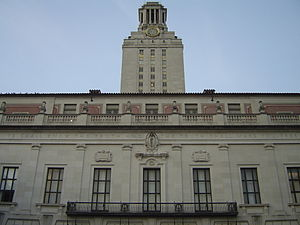 The main building of the University of Texas a...