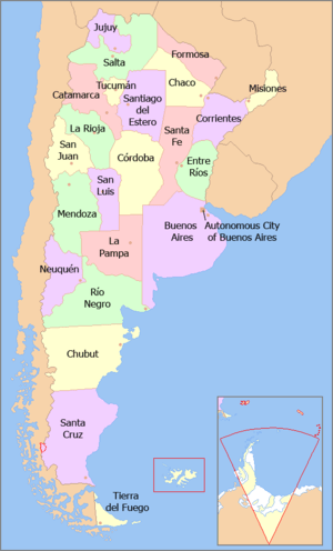 Provinces of Argentina. Click to explore.