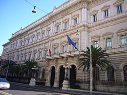 Palace Koch Headquarter of the Bank of Italy, Via Nazionale Rome