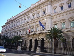 The Banca d'Italia (Bank of Italy) in Via Nazi...