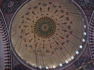 Süleymaniye Camii'nin ana kubbesi.