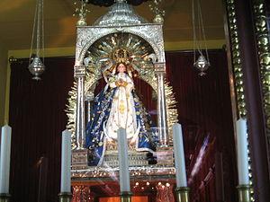Imagen de la Virgen del Trono