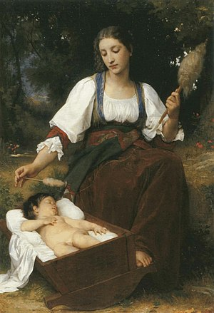 Lullaby by William-Adolphe Bouguereau