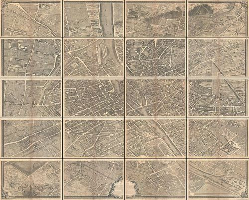 1739 Bretez - Turgot View and Map of Paris, France (c. 1900 Taride issue) - Geographicus - Paris-turgot-1909