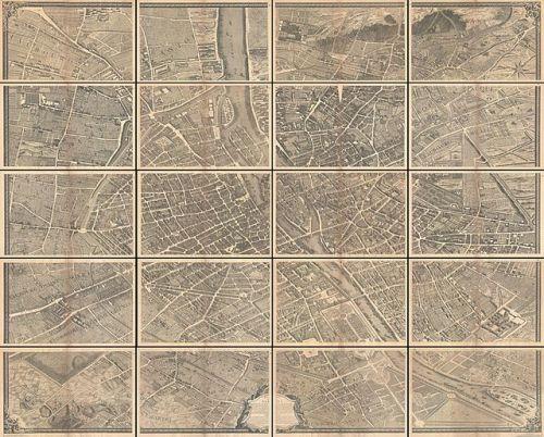 1739 Bretez - Turgot View and Map of Paris, France (c. 1900 Taride issue) - Geographicus - Paris-turgot-1909